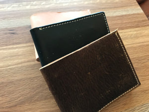 Horizontal leather wallets