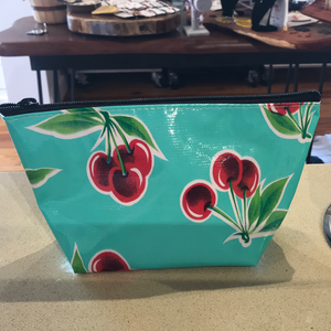 Oilcloth cosmetic bags