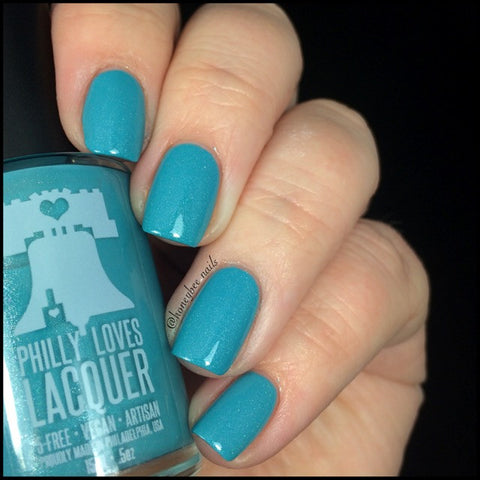 Blue Kids on The Block Neon Blue Shimmer Holo Nail Polish