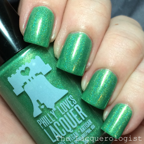 Gilded Shamrock St. Patrick's Day Green Linear Holo Nail Polish