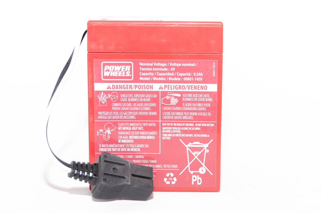 Fisher Price Power Wheels Red Super 6V 9.6AH Battery 00801-0712 - BRS Toy Battery