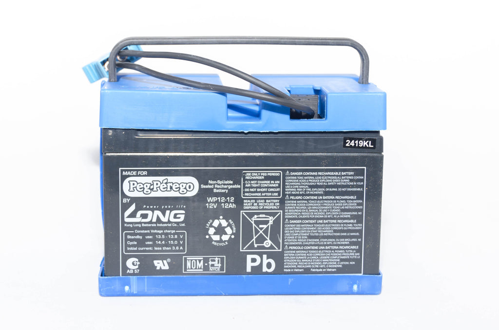 Peg Perego 12v 12AH Blue Battery IAKB0501 - BRS Toy Battery