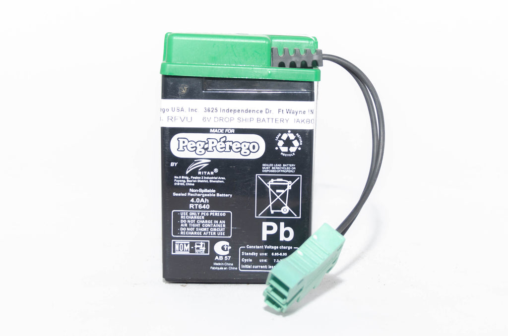Peg Perego 6V 4AH Green Battery IAKB0509 - BRS Toy Battery