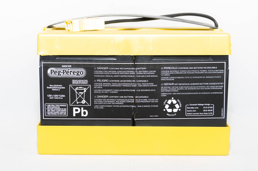 Peg Perego 24V 12AH Yellow Battery IAKB0020 - BRS Toy Battery