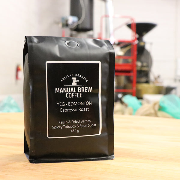 Our Manual Brew Coffees are specially blended to shine when prepared using Hario, Chemex and Aeropress Brewers.
