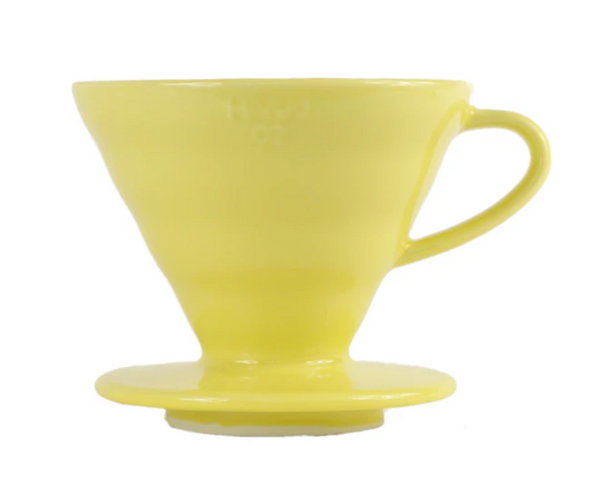Hario V60-02 Ceramic Pourover Lemon Yellow