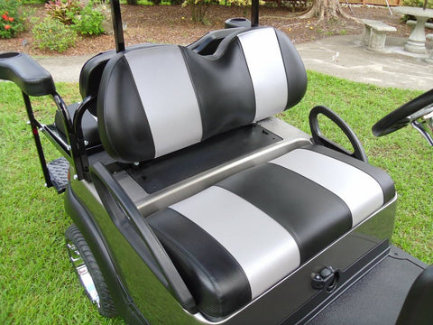A CARBON BLACK / CARBON SILVER PRECEDENT FRONT SEAT COVERS