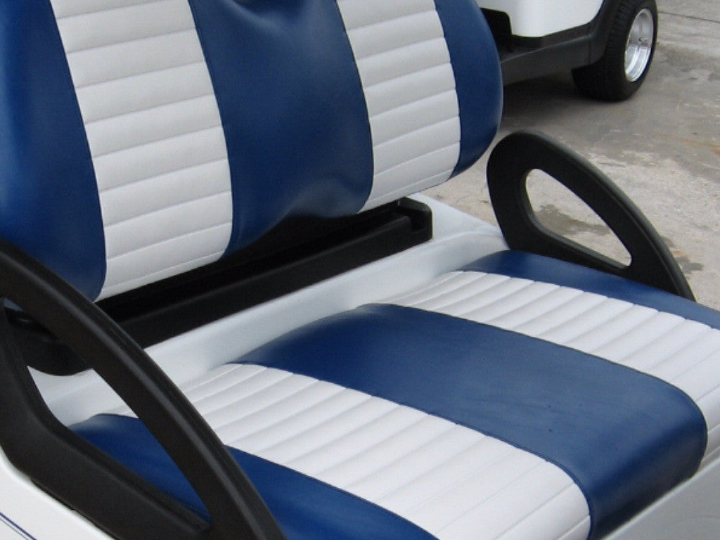 YAMAHA DRIVE 2007- UP FRONT COVERS BLUE WITH WHITE PLEAT