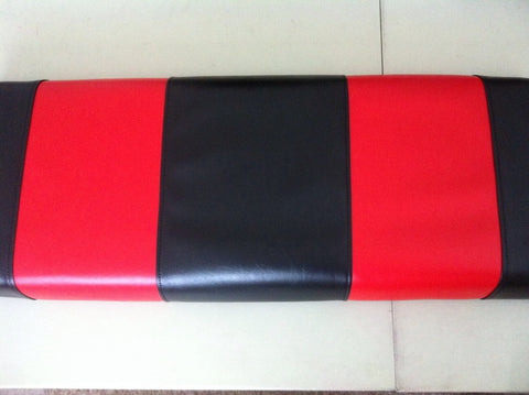 BLACK WITH RED STRIPES EZ GO FRONT TXT / RXV