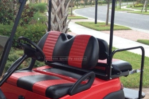 BLACK WITH RED PLEATS CLUB CAR DS 2000 AND UP