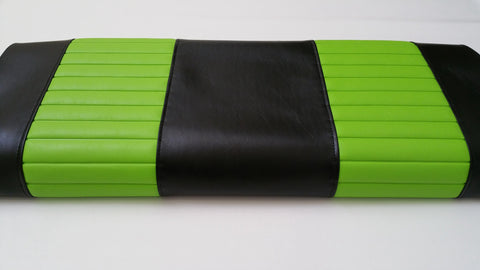 A BLACK / LIME PLEAT CLUB CAR PRECEDENT FRONT SEAT COVERS