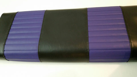 A BLACK / PURPLE PLEATS EZ GO TXT - RXV FRONT COVERS