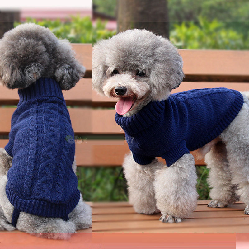 Knit Dog Jacket Sweater Pet
