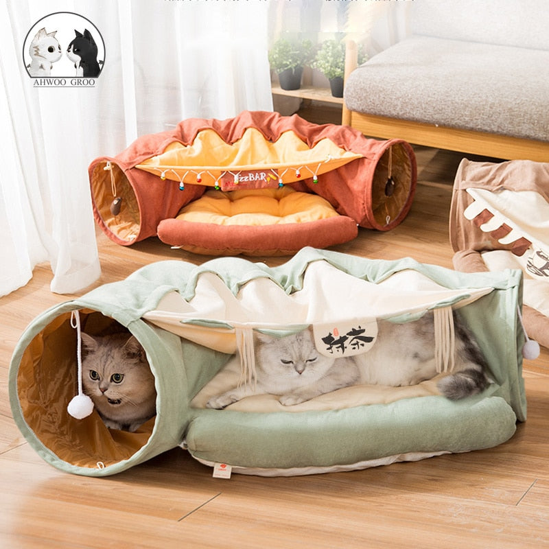 Japan Harajuku Cat Collapsible Tunnel Bed