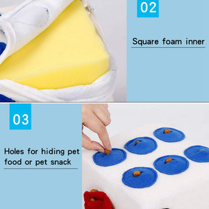 Pet Dog Plush Dice Toy Food Dispenser Treat intelligent training