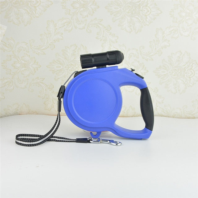 Automatic Extendable Training Lead For Dog 5M/8M Length with LED