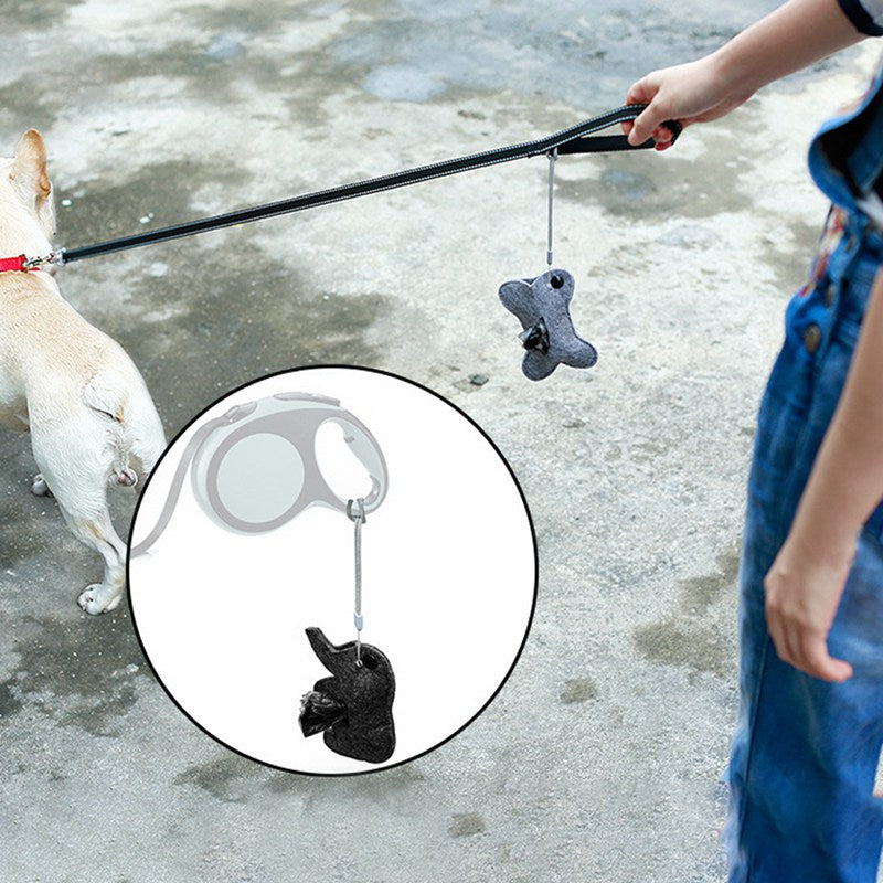 Pet Dog Poop Bag Dispenser Waste Garbage Bags
