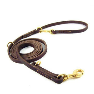 Luxury Strong Leather Pet Dog Leash 100% Genuine