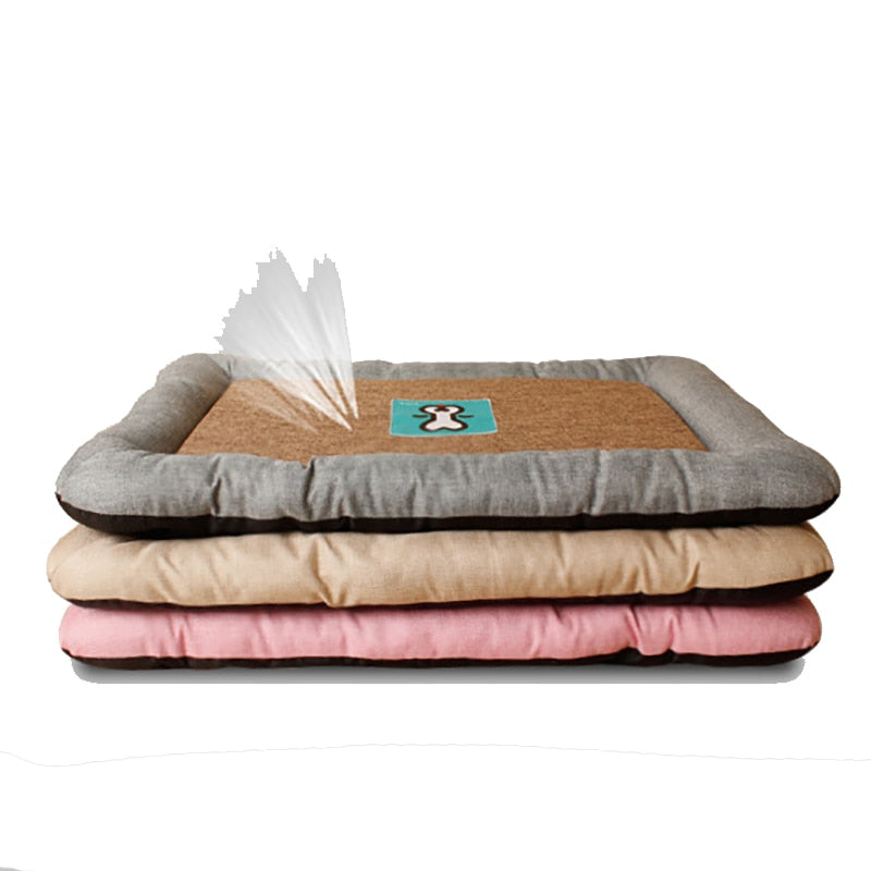 Summer Dog Cat Ice Mat  Pad Crates And Beds Comfortable Linen