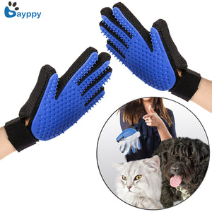 Pet Soft Silicone Dog Cat efficient Brush Glove Cleaning Gentle
