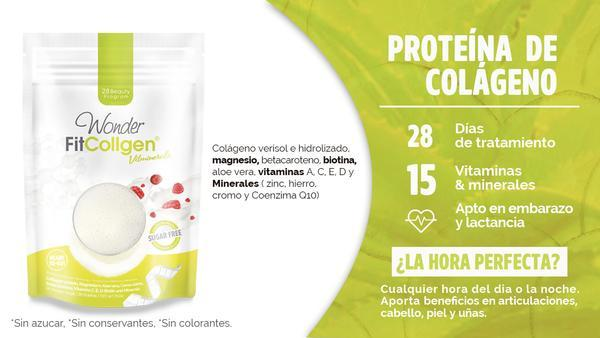 Colágeno proteína natural. Wonder Fit Collgen Vitminerals