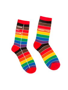 Pride Library Card Socks: Women's