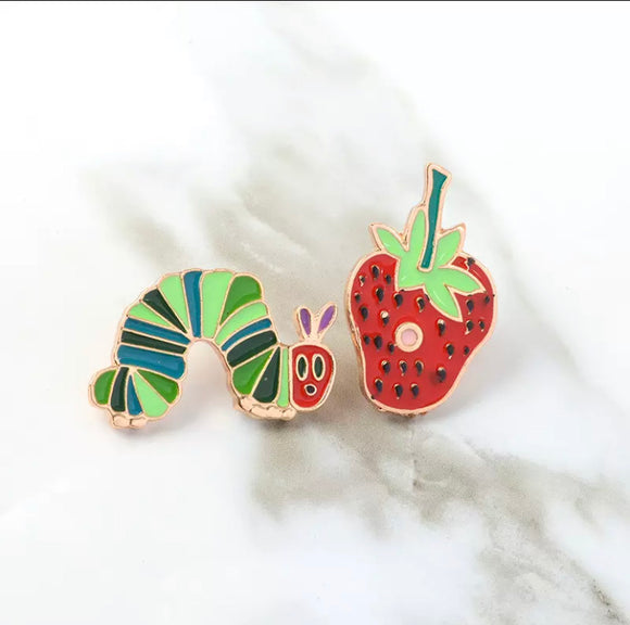 """The Hungry Caterpillar"" enamel pin"