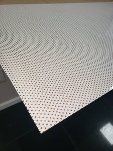 "20"" White Perforated Glitter"