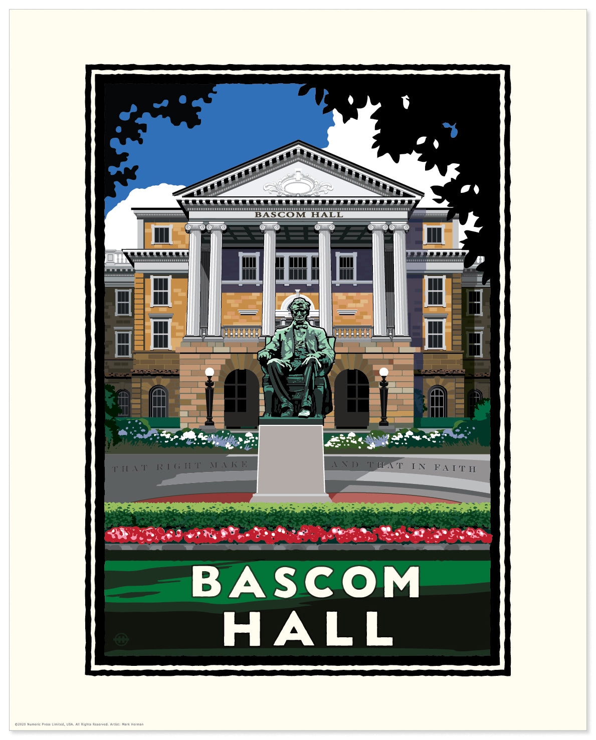 "Landmark University | UW-Madison Badgers ""Bascom Hall"""