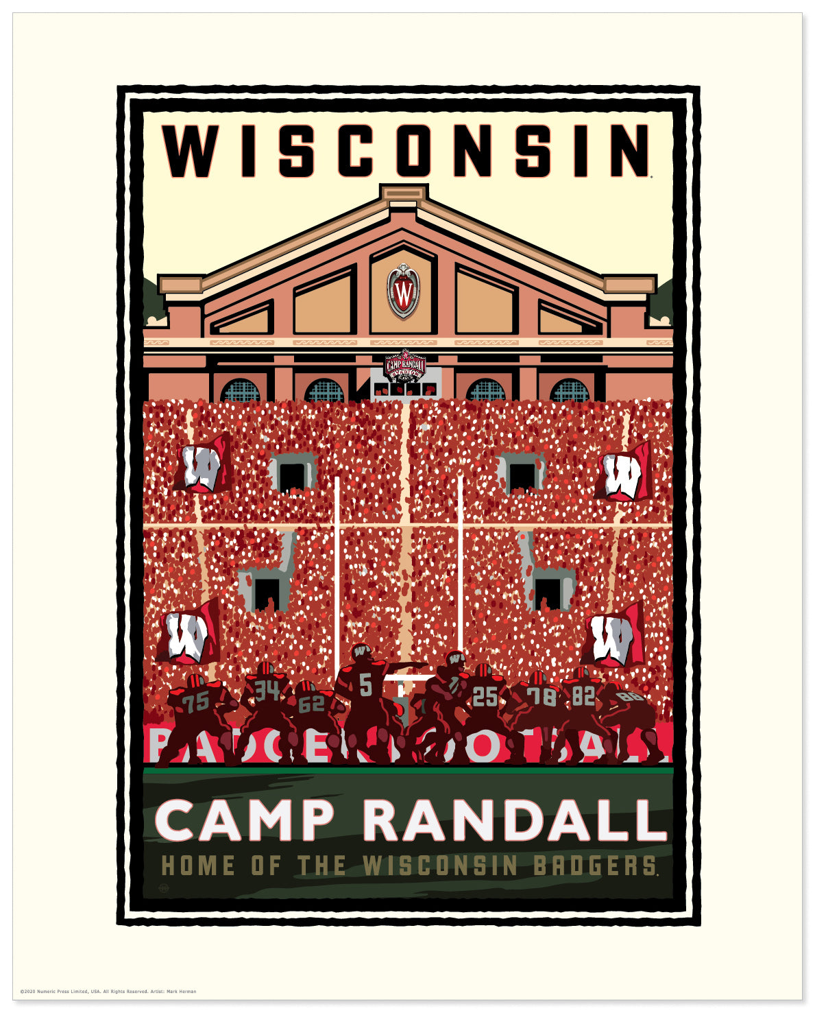 "Landmark University | UW-Madison Badgers ""Camp Randall On Field"""