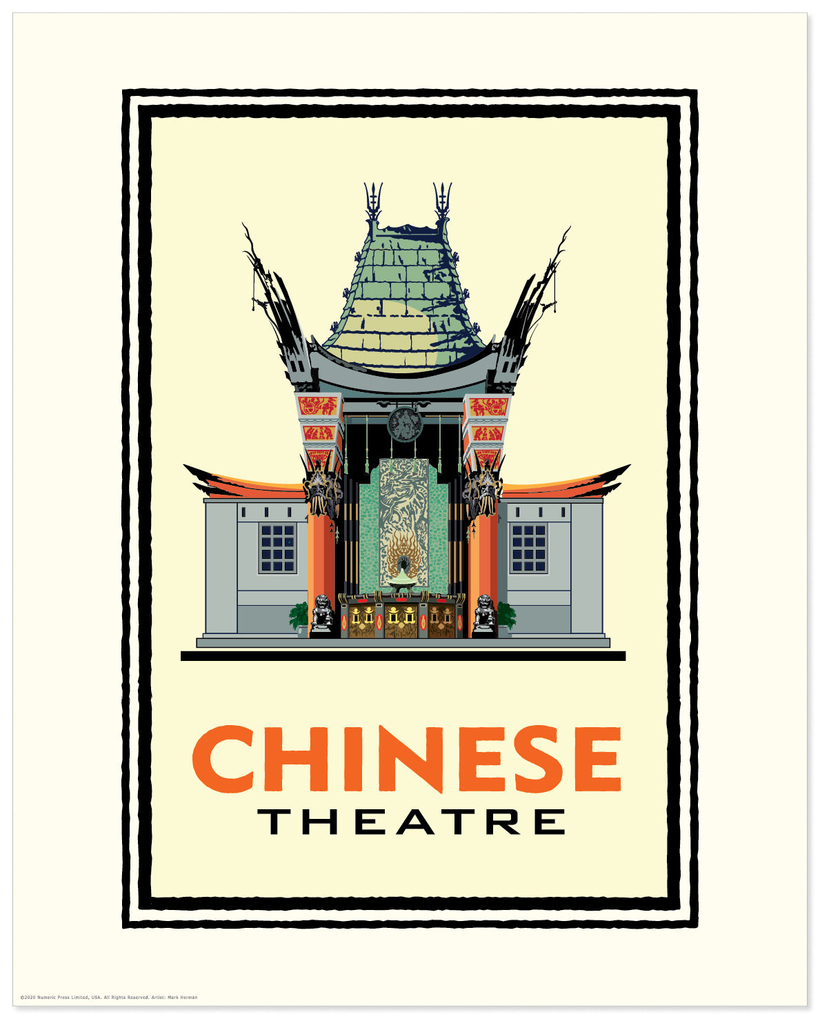 Landmark CA | Chinese Theater Yellow Hollywood
