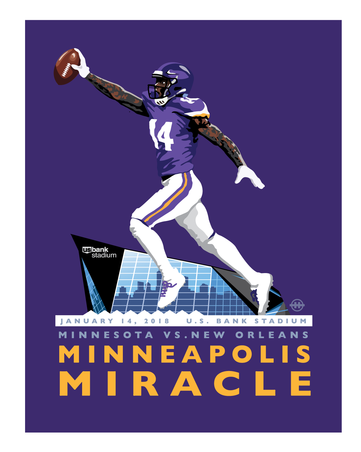 Landmark Series | MN Minneapolis Miracle by Mark Herman