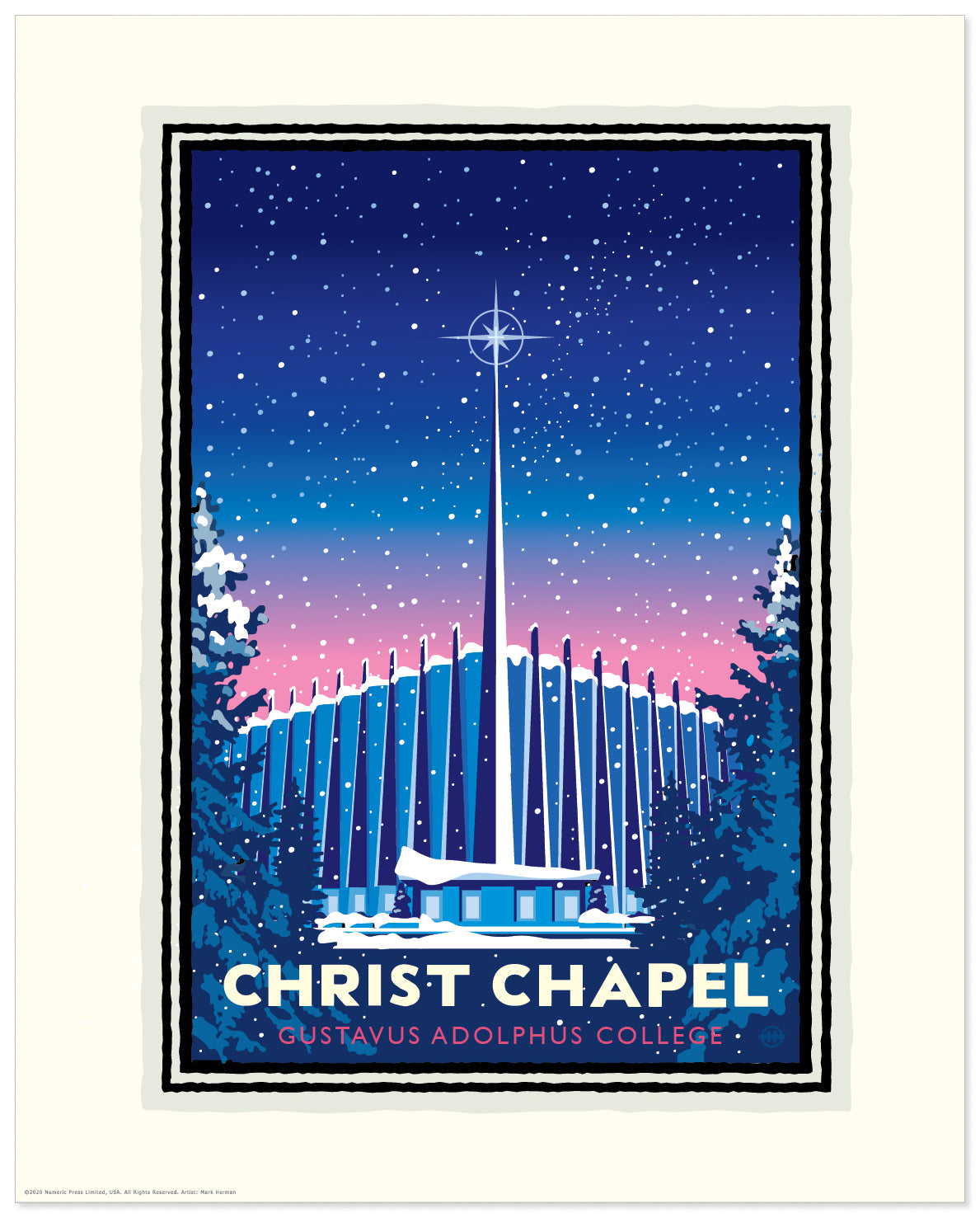 Landmark University | Gustavus Christ Chapel Winter