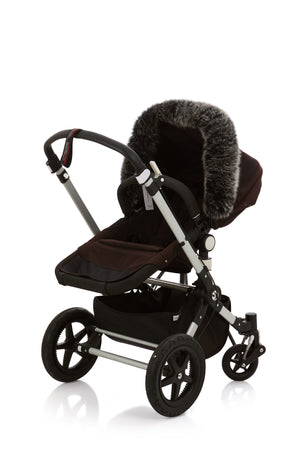 genuine fox fur stroller canopy trim  12 colors available