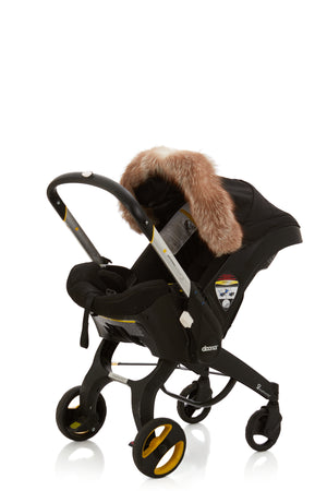 genuine fox fur car-seat canopy trim  12 colors available