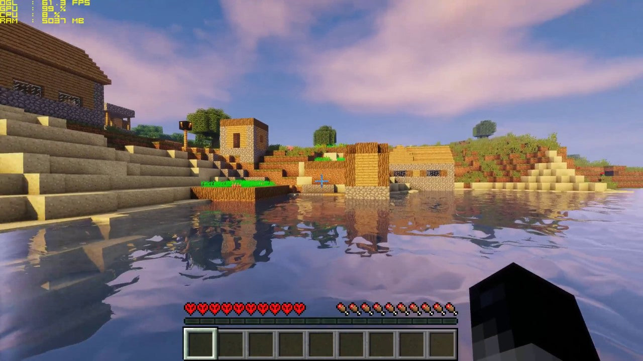 Minecraft with shaders gameplay screenshot