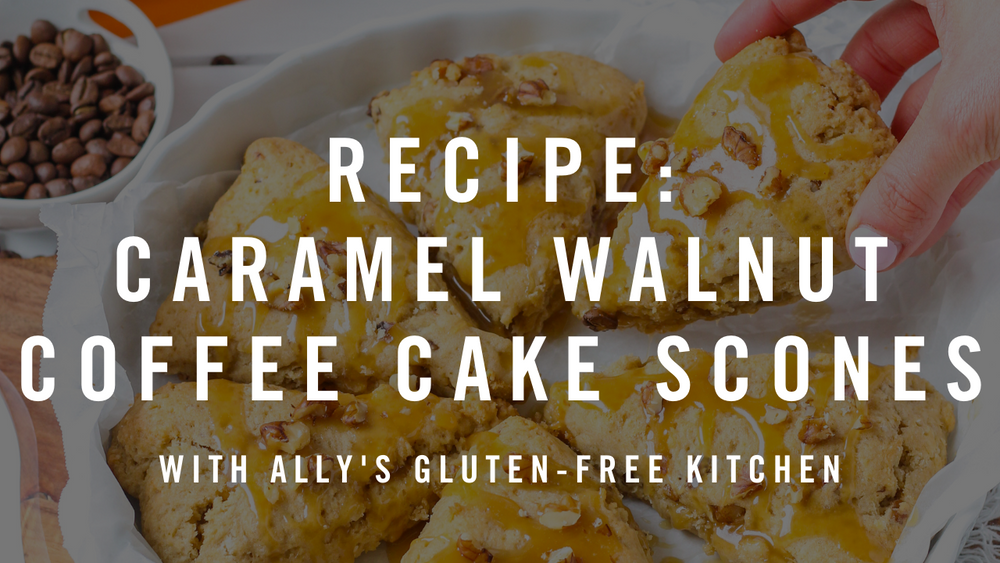 Recipe: Caramel Walnut Coffee Cake Scones