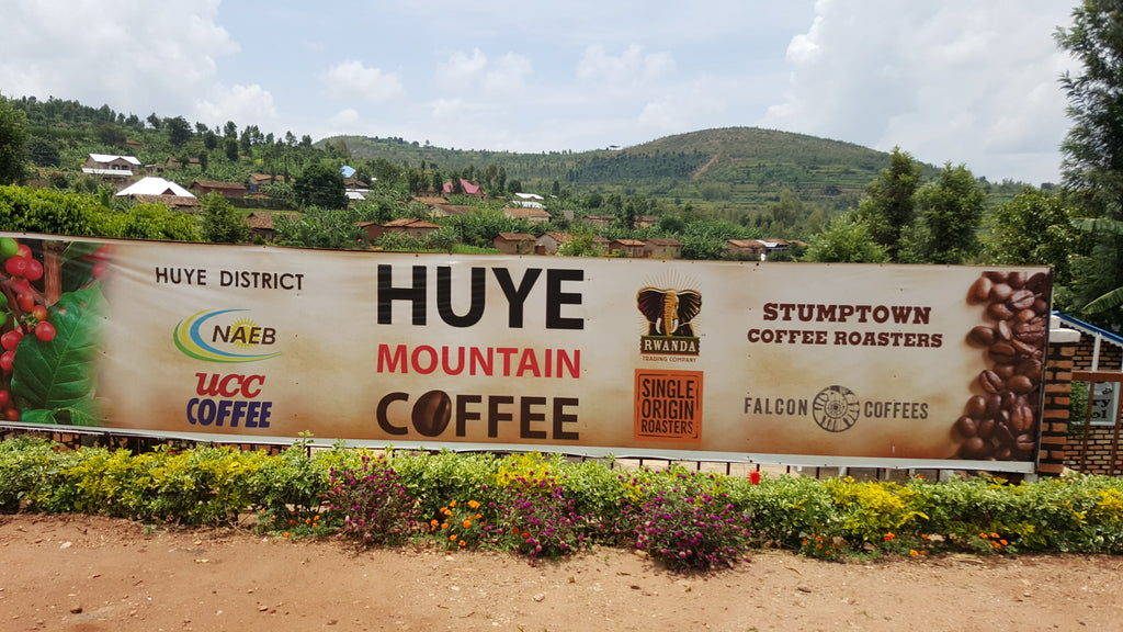 sign on fence for huye mountain in africa