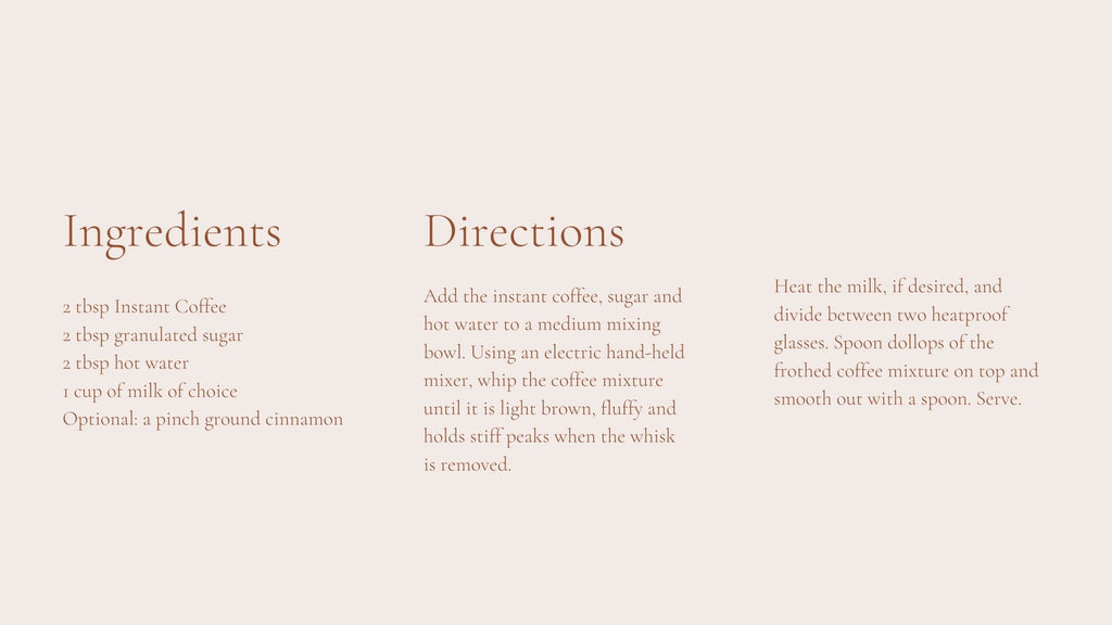 whipped coffee directions