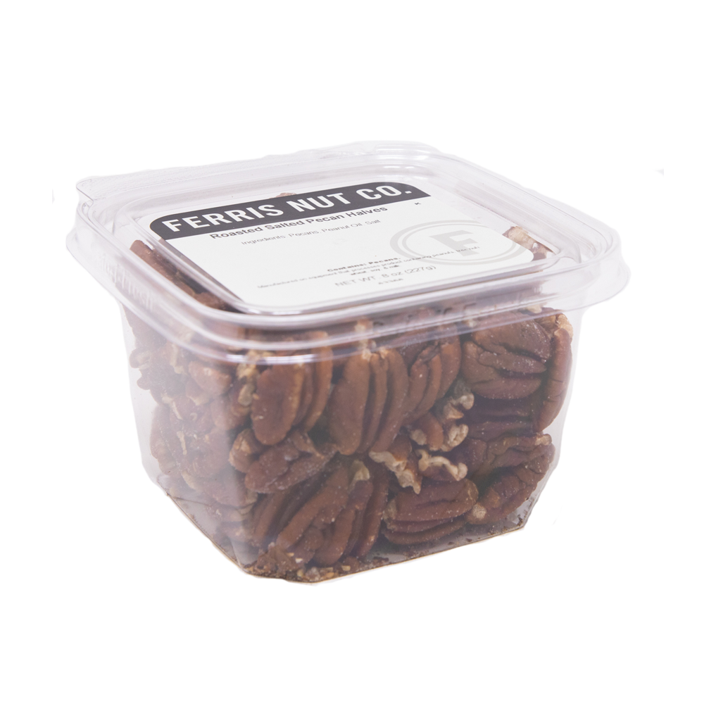 Pecans Halves (Roasted Salted) 8 oz.