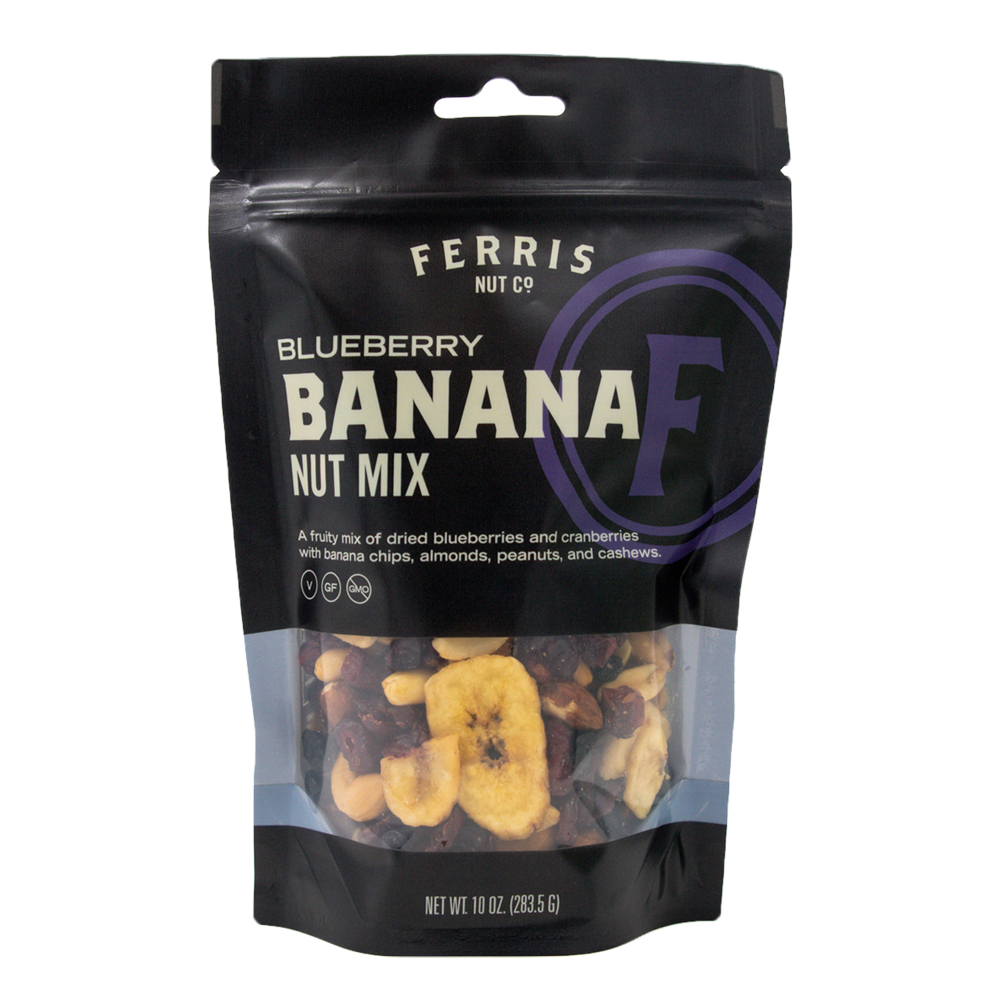 ferris nuts, 10-ounce classic bag, blueberry banana nut mix