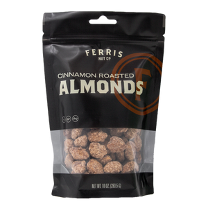 ferris nuts, 10-ounce classic bag, cinnamon roasted almonds