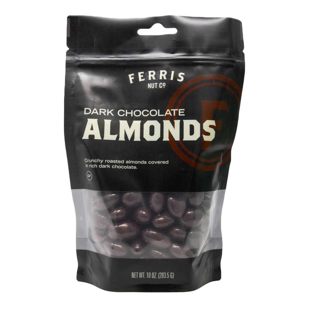 Dark Chocolate Almonds 10 oz. - Ferris Coffee & Nut Co.