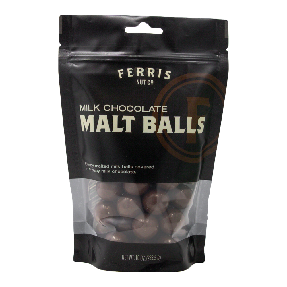 Milk Chocolate Malt Balls 10 oz. - Ferris Coffee & Nut Co.