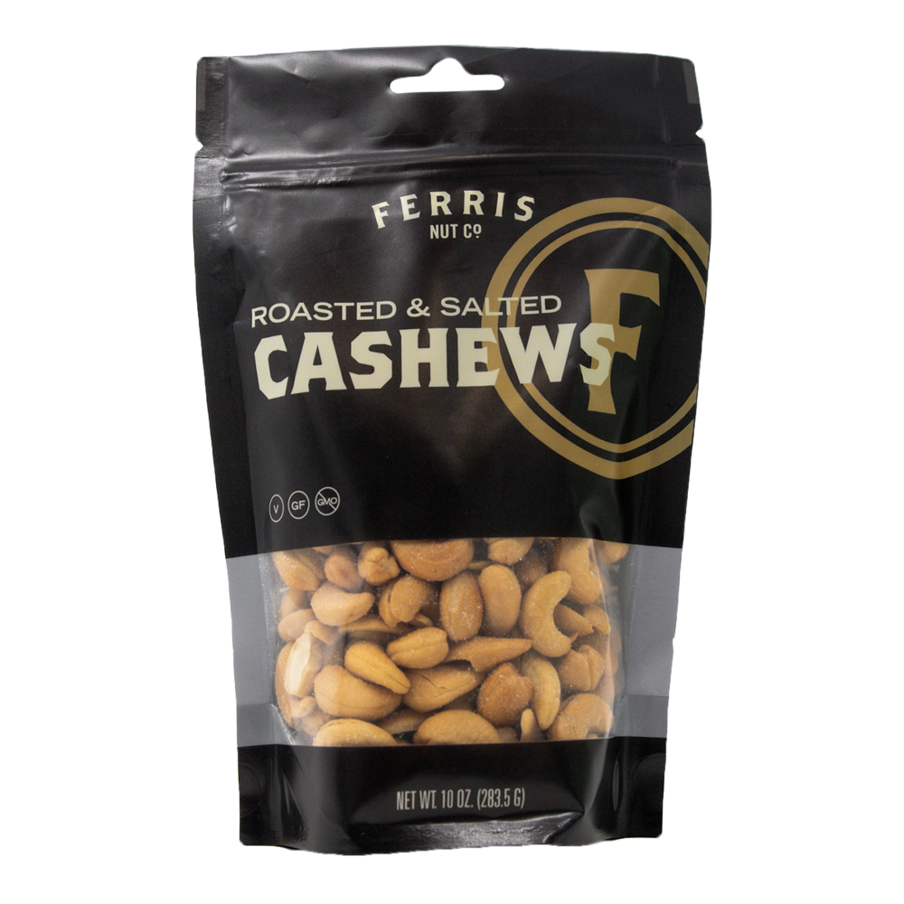 Cashews (Roasted Salted) 10 oz. - Ferris Coffee & Nut Co.