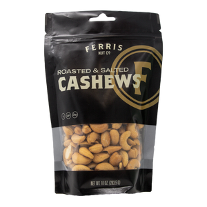ferris nuts, 10-ounce classic bag, roasted salted cashews
