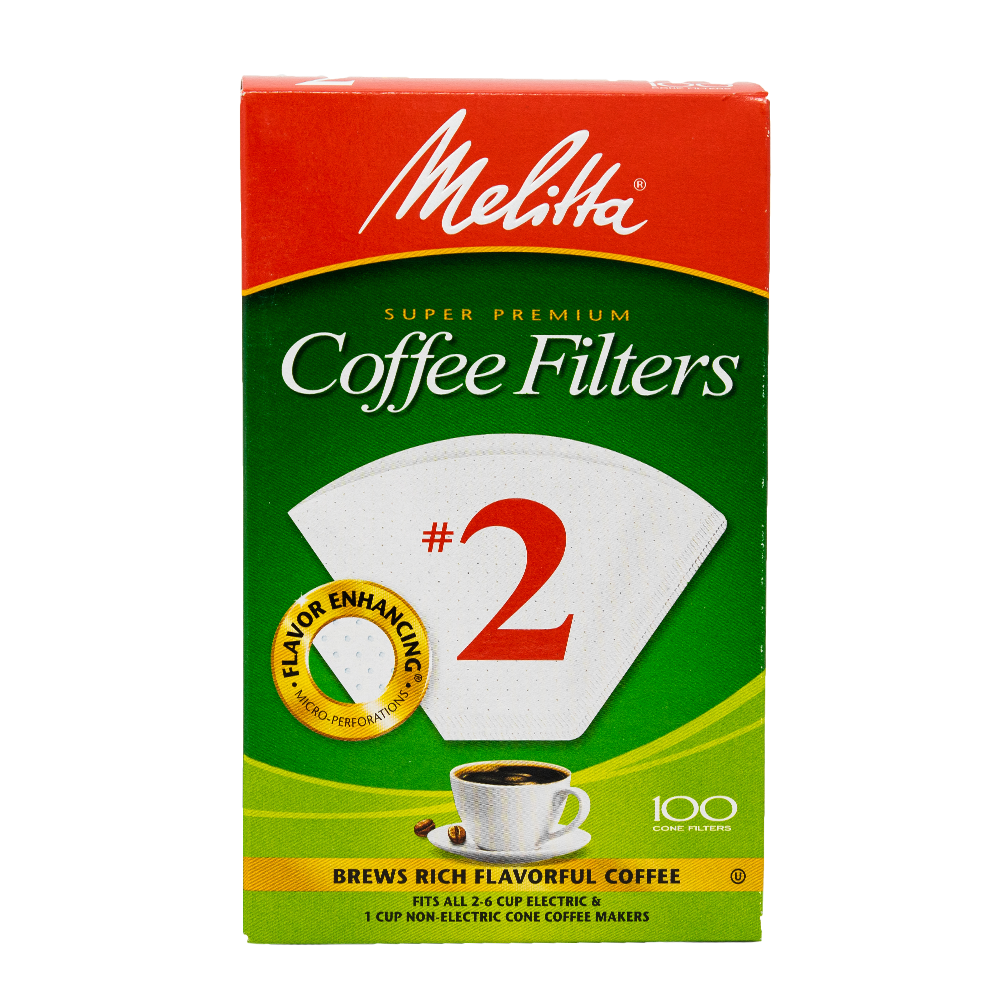box of melitta #2 coffee filters