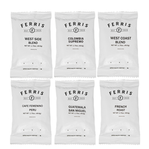 ferris coffee nitro flushed 1.75-ounce, six combination pack