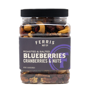 Blueberries, Cranberries & Nuts (Roasted Salted) 16 oz. - Ferris Coffee & Nut Co.