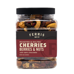 Cherries, Berries & Nuts with Chocolate Chunks (Roasted Salted) 16 oz. - Ferris Coffee & Nut Co.